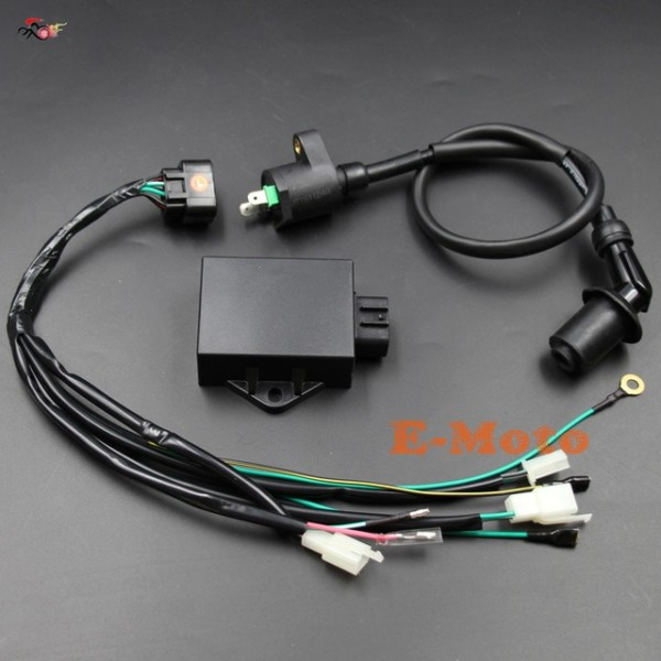 Complete Wire Wiring Harness Loom Ignition Coil 8 Pin Cdi Kits For