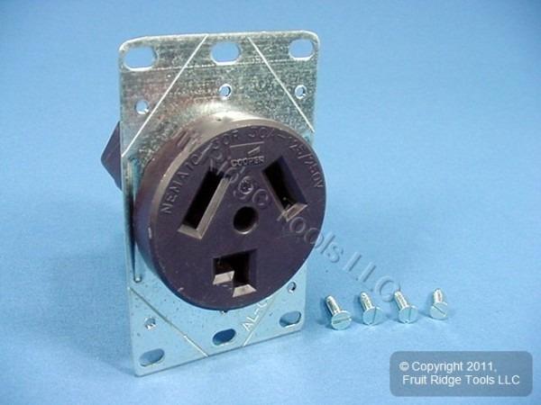 Cooper Flush Mount Dryer Outlet Receptacle 30a 125 250v Nema 10