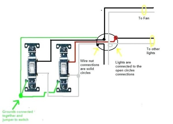 Wiring A Two Way Light Switch With Double Switch