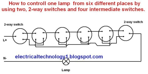 Electrical Technology  How To Control One Lamp From Six Different