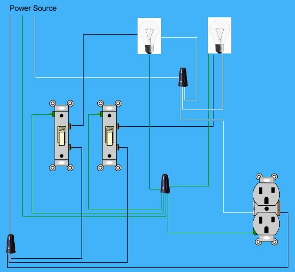 Electrical Wiring Multiple Schematics And Lights