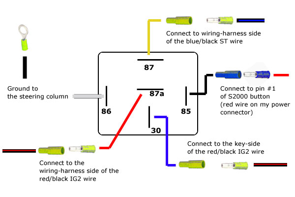 Five Pin Relay Wiring Diagram