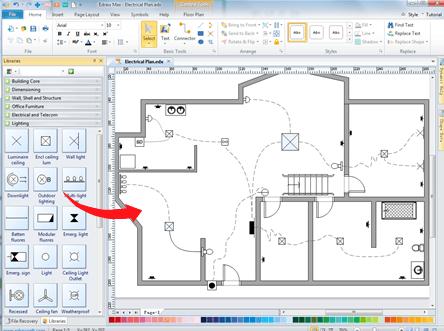 Home Wiring Plan Software Making Wiring Plans Easily Home Wiring