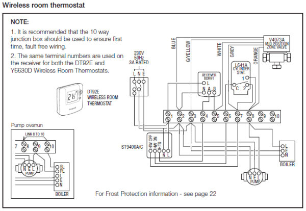 Honeywell Wiring Diagram Y Plan Central Heating Y Plan Wiring