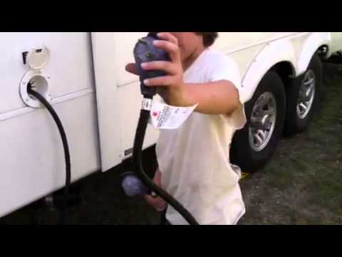 How To Plug In The Electrical Cord On A 5th Wheel Rv