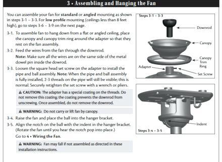Hunter Fan Parts List Hunter Ceiling Fan Instructions Manual Bay