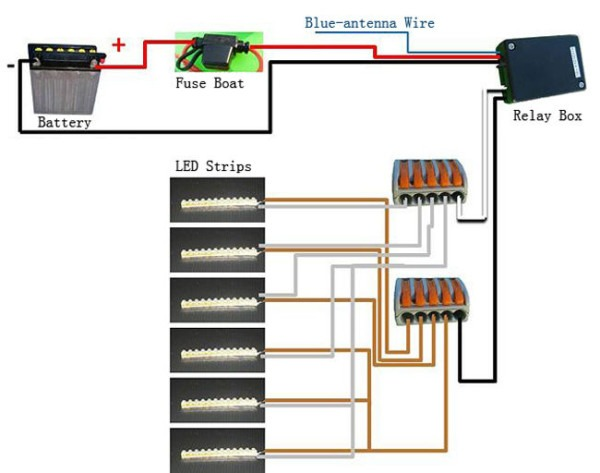 Install Led Lighting Strips On Motorcycle  6 Steps