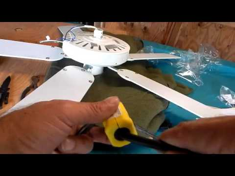 Installing An Electric Outlet Plug On A Ceiling Fan