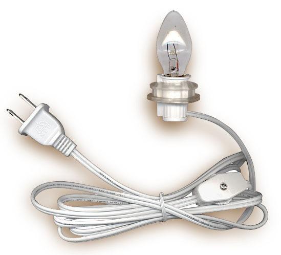 Lamp Cord Sets With Candelabra Base Light Bulb