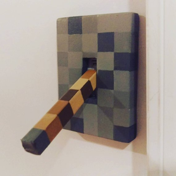 Lever Light Switch Minecraft Style For Boys Or Girls Bedroom