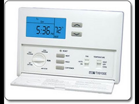 Lux Tx9100e Heater  Ac Thermostat Installation Video