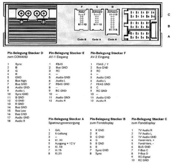 Mercedes Audio 15 Wiring Diagram