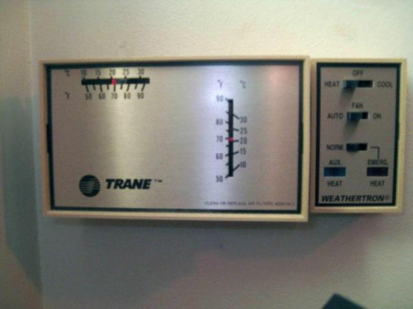 Old Trane Thermostat