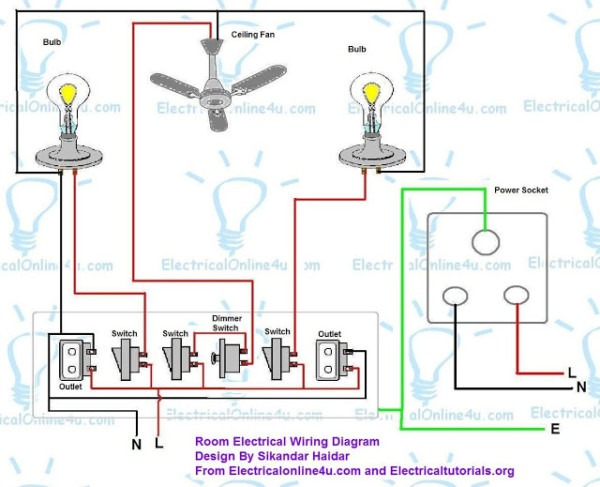 One Circuit Wiring Diagram Two Rooms