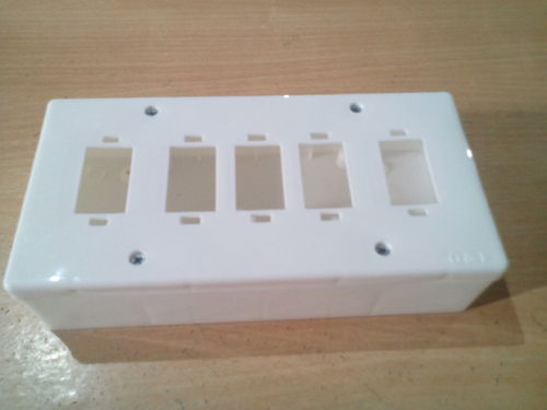 Plastic Square Wiring Open Gang Electrical Box, For Switches, Rs