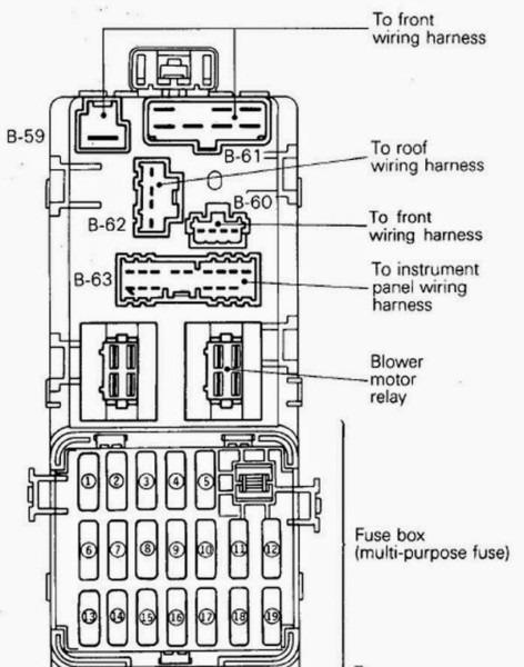 Proton Wira Wiring Diagram