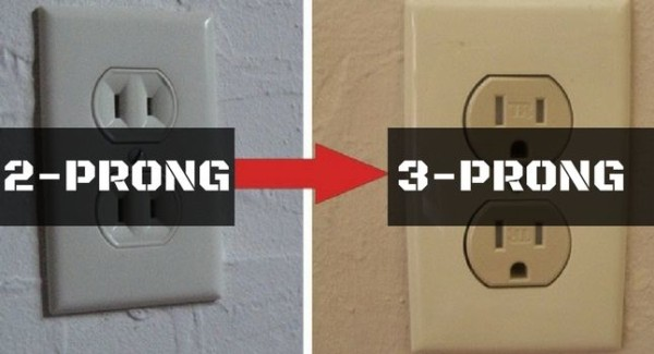 How To Replace 2 Prong Outlet With 3 Prong Outlet