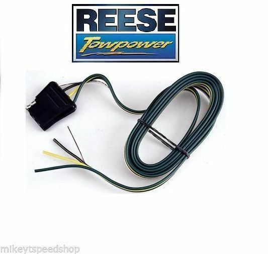 Reese 4 Way Flat 60  Trailer Wiring Harness 74123 Connector Towing