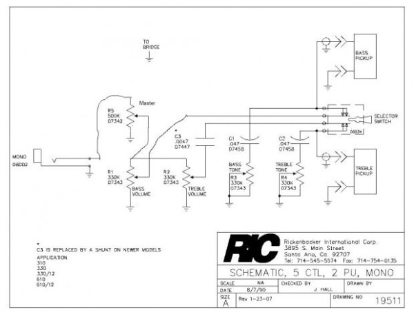 Rickenbacker 620 Wiring Diagram Wiring Diagram Experts