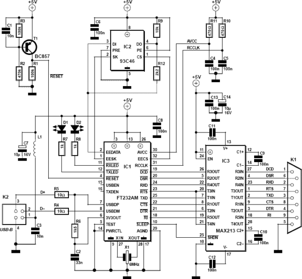 Rs232 Serial To Usb Converter Cable Schematic · Allpinouts