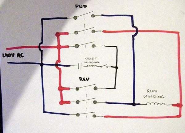 Single Phase Reversing Motor Contactor With Wiring Diagrams