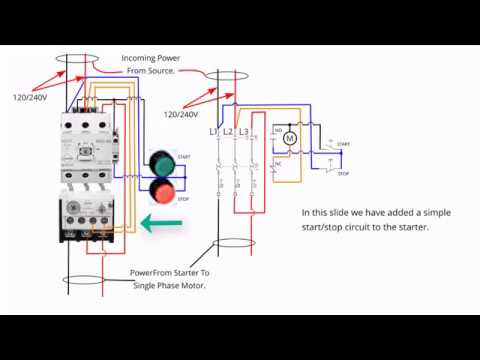 Single Phase Starter Connections