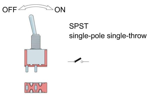 Single Pole Single Throw [ Spst ] Switch