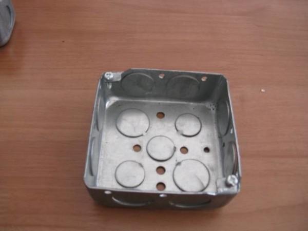 Square Electrical Box Steel Box Metal Outlet Box Utility Box