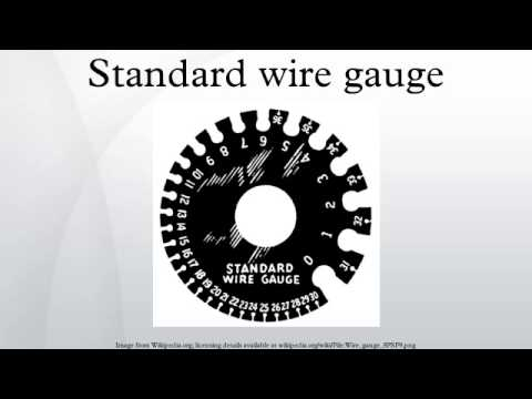 Standard Wire Gauge