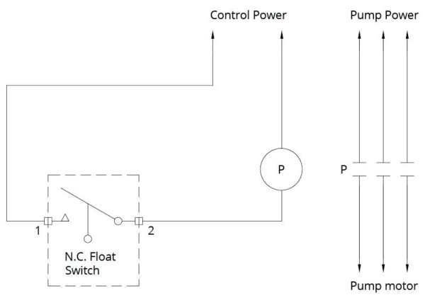 Storage Tank Float Switch Wiring Diagram For A Single 2 Wire