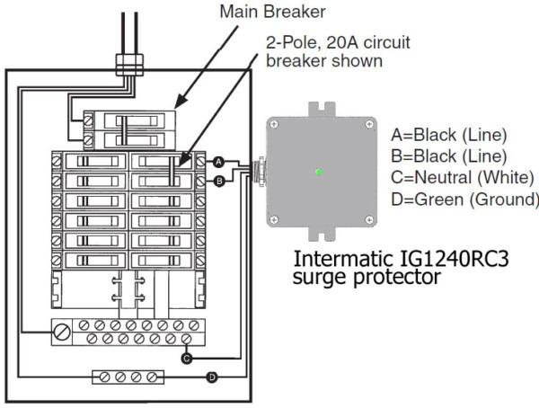 Surge Protection Device Diagram In Addition Leviton Wiring