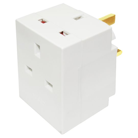 Tesco 3 Way Adaptor Plug