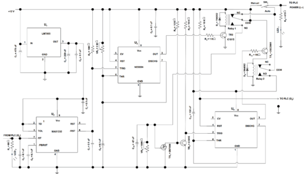The Circuit Diagram Of The Plc Auto Power Reset From Figure 2, The