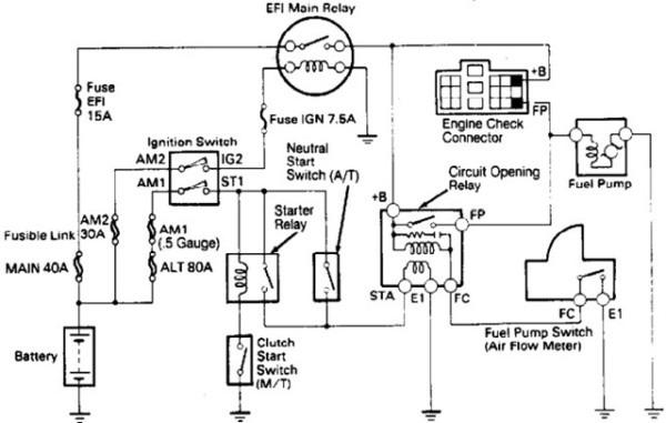 1996 Toyota Camry Fuel Pump Wiring Diagram