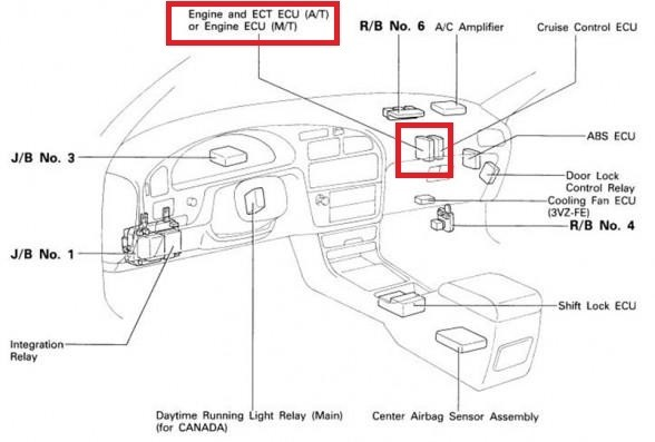 1996 Toyota Camry Fuel Pump Wiring Diagram