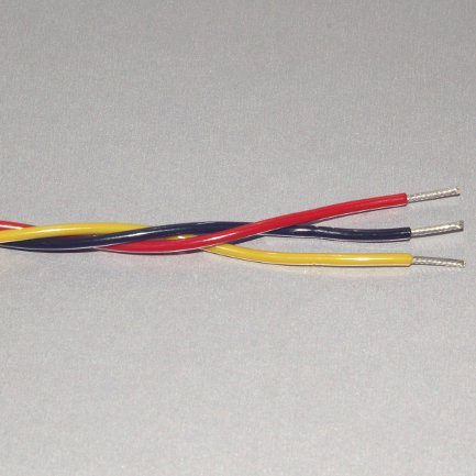 Twisted Wire, 22 Ga  Red + Yellow + Black