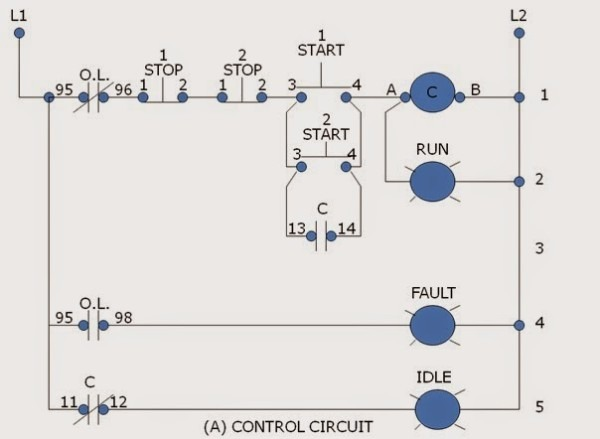 two_station_start_stop_0  Wire Start Stop Station Wiring Diagram on