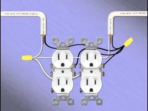 Wiring 2 Gang Recepitacle Youtube