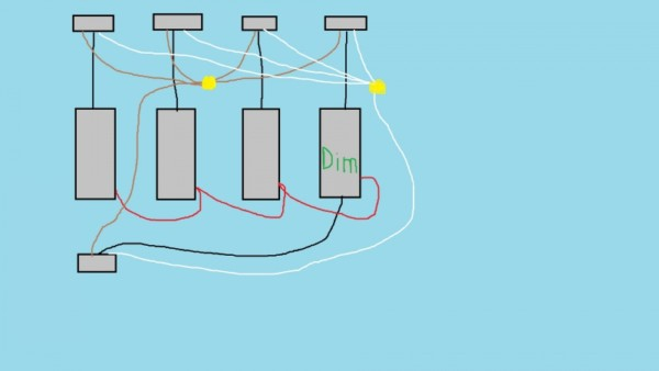 Wiring A Single Pole Dimmer Switch In A Multiple Switch Box
