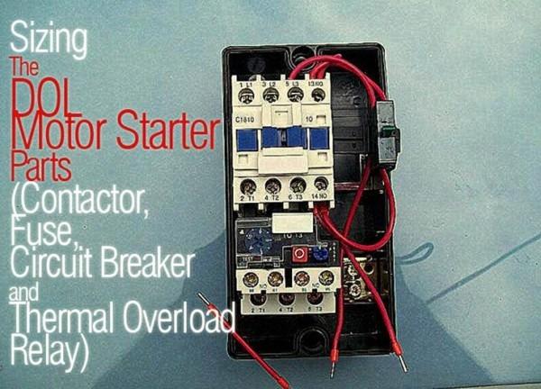 Wiring Diagram Of Single Phase Motor Starter