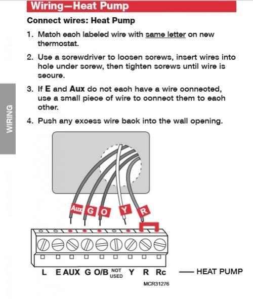 Wiring Heat Pump
