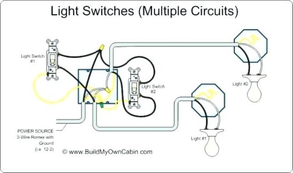Wiring Multiple Light Switches From One Power Source Wire A Light