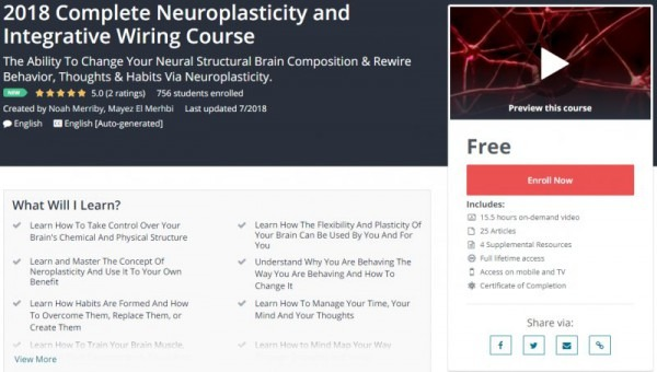 100  Free] 2018 Complete Neuroplasticity And Integrative Wiring