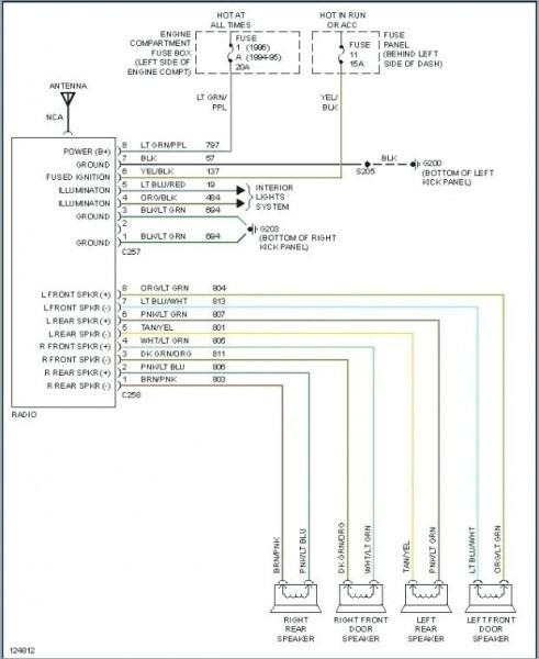 2000 Ford F 150 Radio Wiring Harness Radio Wiring Diagram 2000