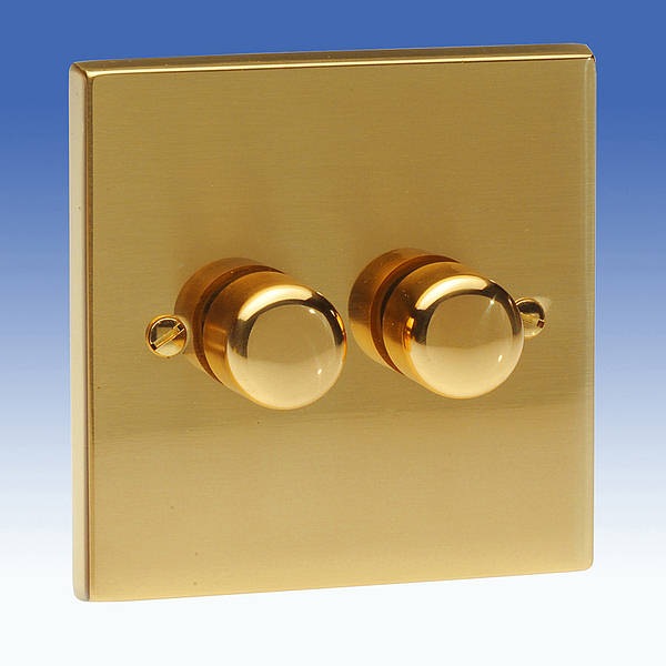 2 Gang 1 Way 400w Rotary Dimmer Switch