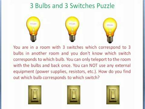 3 Bulbs And 3 Switches Puzzle