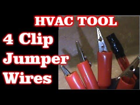 4 Clip Jumper Wires For Hvac Low Voltage