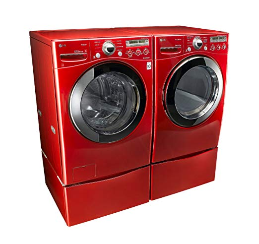 Amazon Com  Lg  Wild Cherry Red  Steam Laundry Pair With Matching