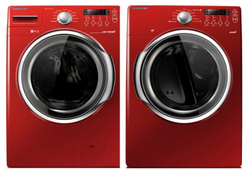 Best Washers  Samsung Red 3 7 Cu Ft Doe (4 3 Cu Ft Iec) Steam
