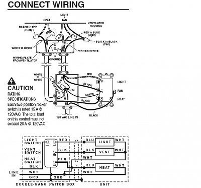 Broan Bathroom Fan Wiring Diagram